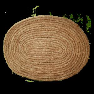 Tapis oval en racine tressé